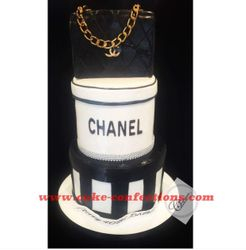 Chanel Themed Cake with Purse