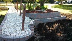 Retaining Wall & River Gravel