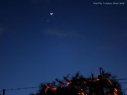 The conjunction of Moon, Venus and Jupiter
