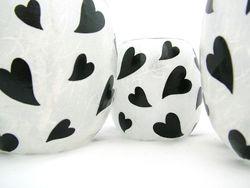 White and Black Melting Hearts
