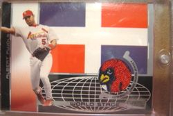 Albert Pujols 2003 Topps World Stage Game Used Jersey Card