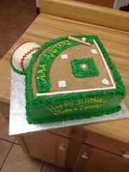 Baseball Diamond Cake