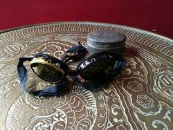 II PK Sveicarijos armijos UV akiniai su dezute. WW2 Swiss Army MWFM Mendrisio Mountain Trooper Goggles. Kaina 23