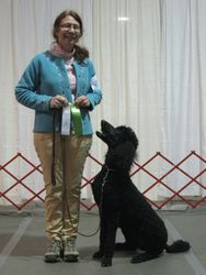 Phoenix winning fourth place in Rally Novice and earning her first RN leg.  10/23/11.