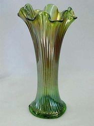 Fine Rib vase in green