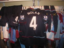 Kevin Nolan's used kit from the away game vs Swansea used once.