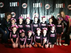 Pink with coaches Whitney and Erica