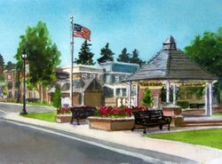 Painting of the Village for The Time Capsule