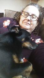 Odie (Buddy's Dad, Herbie's son) having a cuddle