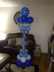 Tri Color Balloon Column
