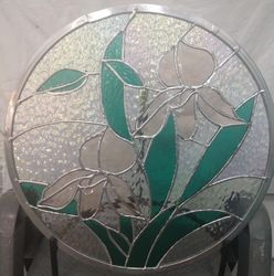 DUAL PEACH ORCHID BEVEL ROUND PANEL