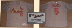 Albert Pujols Cardinals 2010 Game Used Road Jersey With LOA From Authentic Gamers Rob Steinmetz