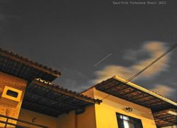 ISS moving (during 10 seconds) across the sky of Fortaleza City.