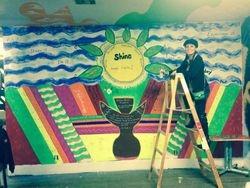 First indoor mural at Montrose Proper