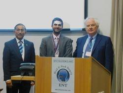 Neeraj Sethi (centre) wins the ENT Masterclass/ENT News Trainees' gold medal