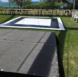 16'x16' Dance Floor and 12'x8' Stage