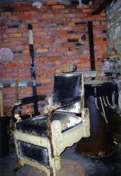 An antique barber chair was found in