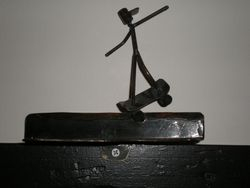 Skateboarder figurine