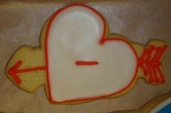 valentine heart cookies $2.50/ea