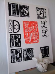 'Love... is all u need' canvas