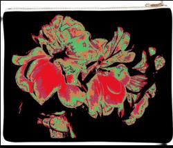 Fleurs clutch bag