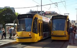 Siemens Combino Supra Trams in Pest