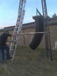 8 meter high speaker towers