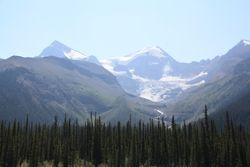 Mountains from Maligne Lake, Jasper National Park