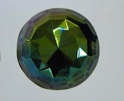 Faceted Dome hatpin, dark