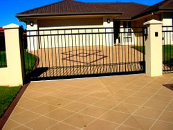VERTICAL BAR SLIDING GATE WITH A DIFFERENCE