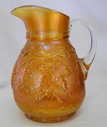 Vineyard water pitcher, marigold