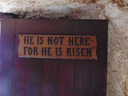 Sign at the Garden Tomb