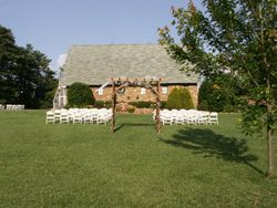Set up for a wedding of 75