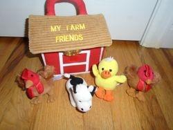 My Farm Friends Plush Carrier - $10