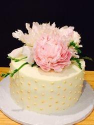 16th Birthday Peony cake