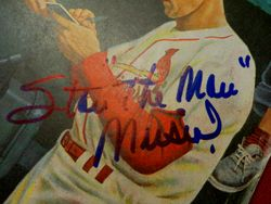 Stan The Man Musial Autographed 1954 Saturday Evening Post Cardinals