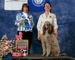 Amber with new CDX title and winning first place.  4/20/07.