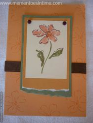 Orange Stamped Flower Card