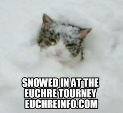 Snowed in at the Euchre tourney.