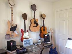 Redwood City home music studio