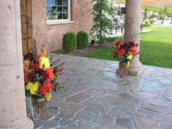 Both vases for the winery entrace