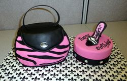 "Purse and Heel ""Bling"" Cake"