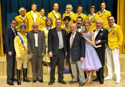 JIMMY PERRY OBE WITH THE 2010 CAST
