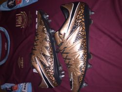 Pedro Obiang personalised and signed, worn boots.