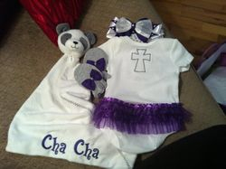 The back of Charlee's outfit!