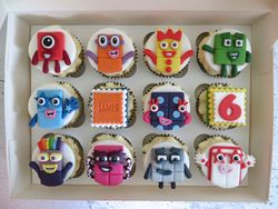 Numberblock Birthday Cupcakes