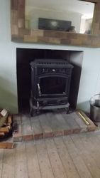M/F stove Installed (Back boiler)