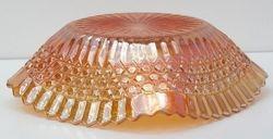 Button ruffled sqare bowl, marigold