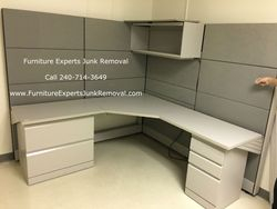 Junk office furniture removal in Reston VA