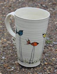 Birds Mug ~ Side 1